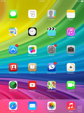 UI of the Apple iPad mini 2 - LG G Pad 8.3 vs Apple iPad mini 2 with Retina Display