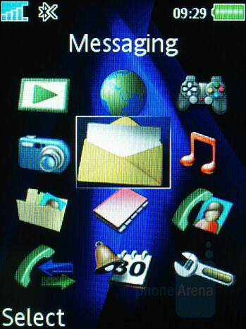 Main menu - Sony Ericsson K810 Review
