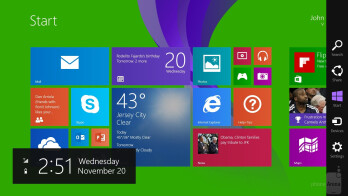 UI of the Nokia Lumia 2520 - Nokia Lumia 2520 vs Microsoft Surface 2