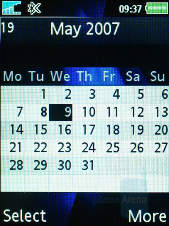 Calendar - Sony Ericsson K810 Review
