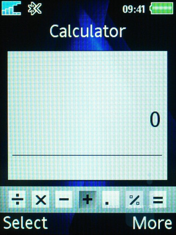 Calculator - Sony Ericsson K810 Review