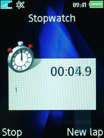 Stopwatch - Sony Ericsson K810 Review