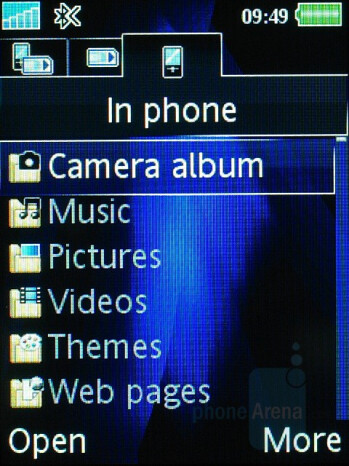 File manager - Sony Ericsson K810 Review