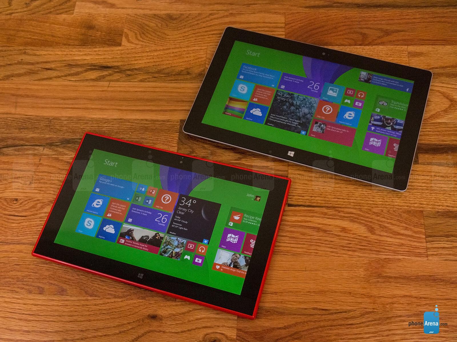 Nokia lumia 2520 vs surface pro 3