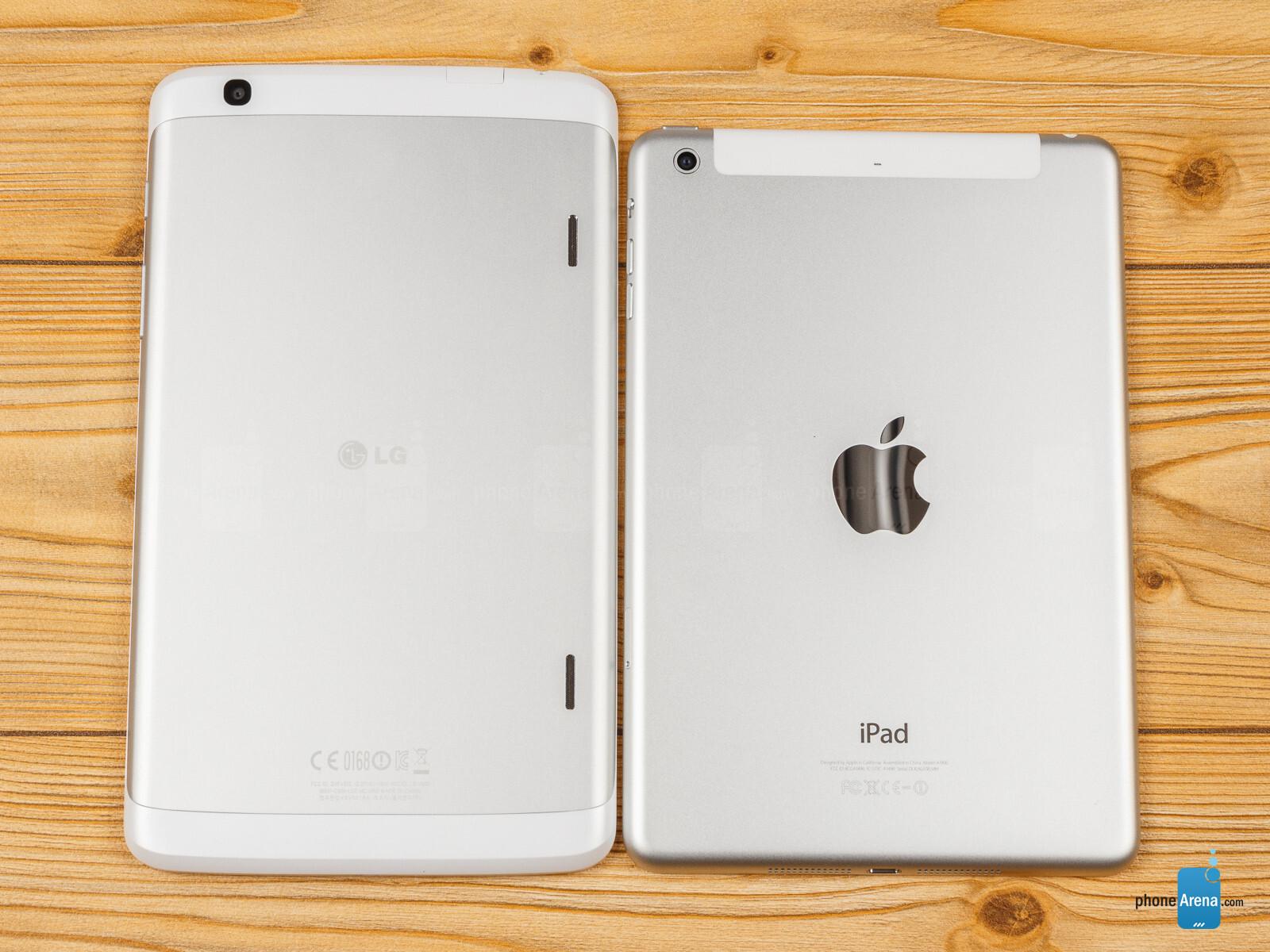 lg g pad 8 3 vs apple ipad mini 2 with retina display. Black Bedroom Furniture Sets. Home Design Ideas