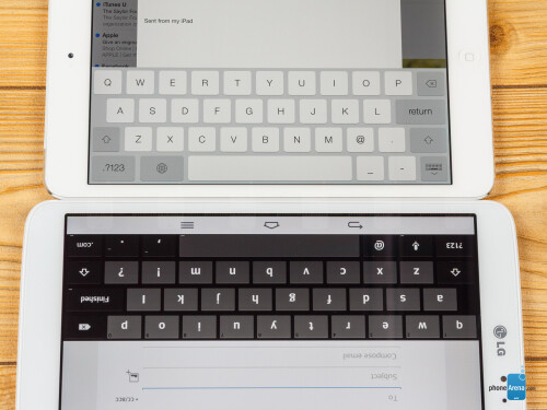 LG G Pad 8.3 vs Apple iPad mini 2 with Retina Display