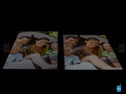 LG G Pad 8.3 (L) and Apple iPad mini 2 (R)
