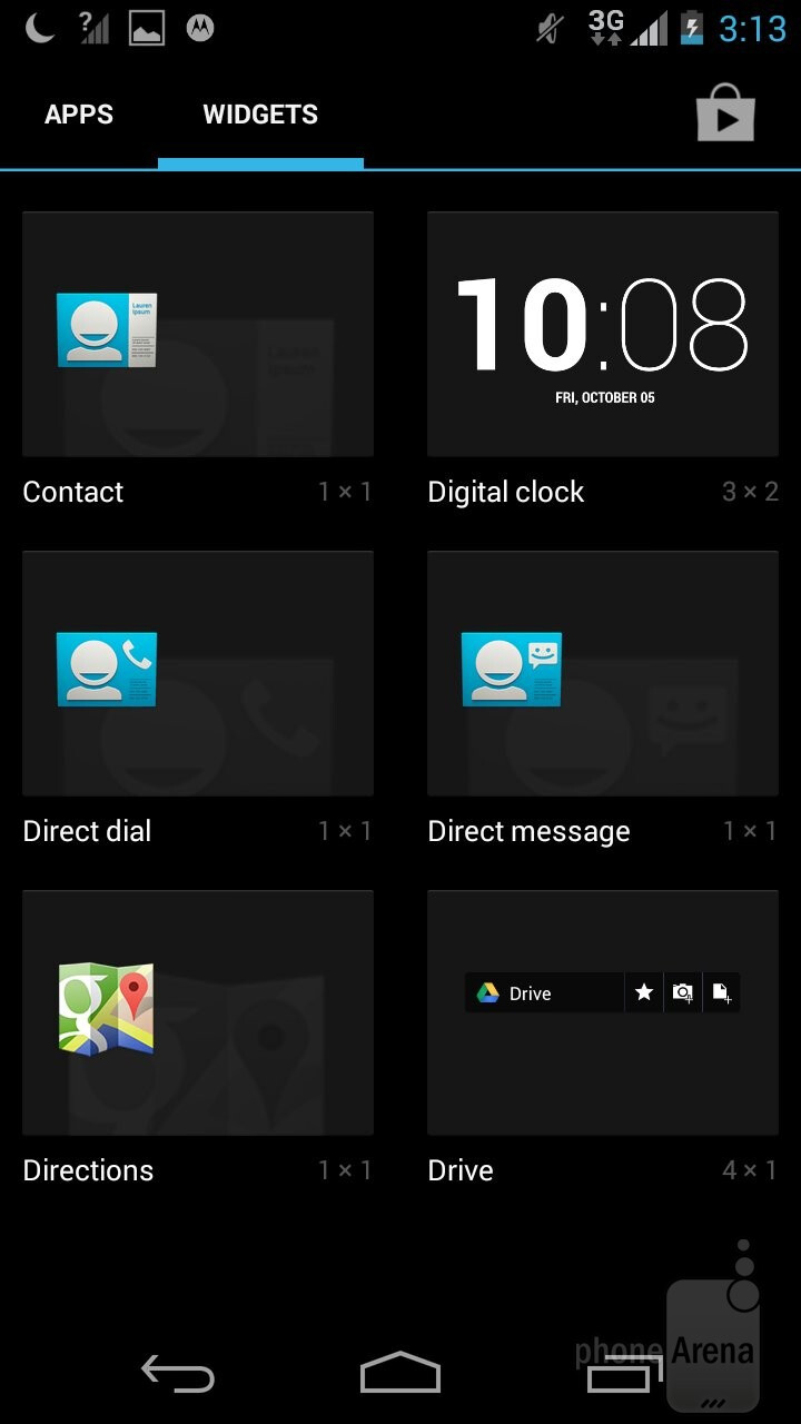 User interfaces - Motorola Moto G 2014 vs Moto G 2013
