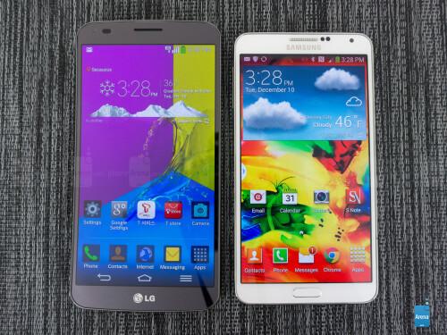 LG G Flex vs Samsung Galaxy Note 3