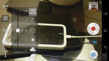 Camera UI of the Sony Xperia Z1S - HTC One (M8) vs Sony Xperia Z1S