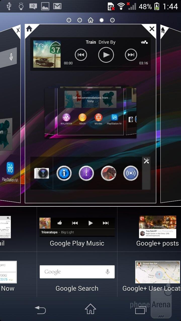 UI of the Sony Xperia Z1 Compact - Sony Xperia Z1 Compact vs Samsung Galaxy S4