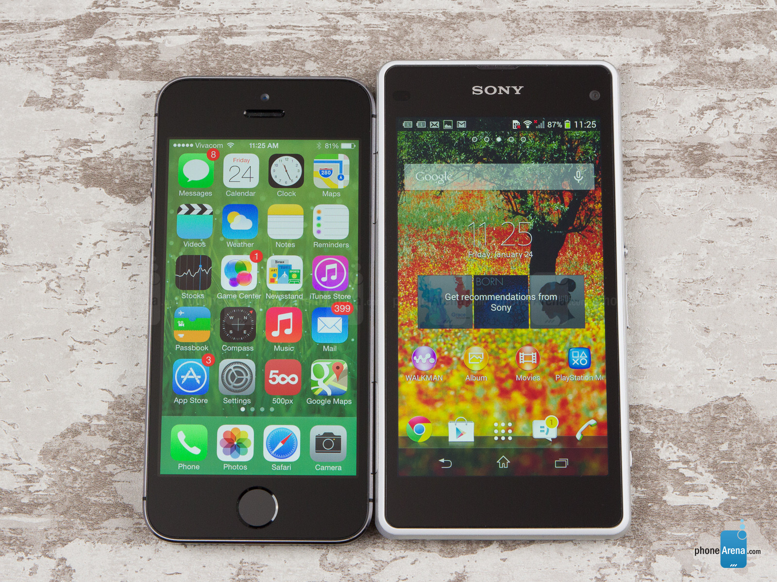 sony z1 compact vs iphone 5s
