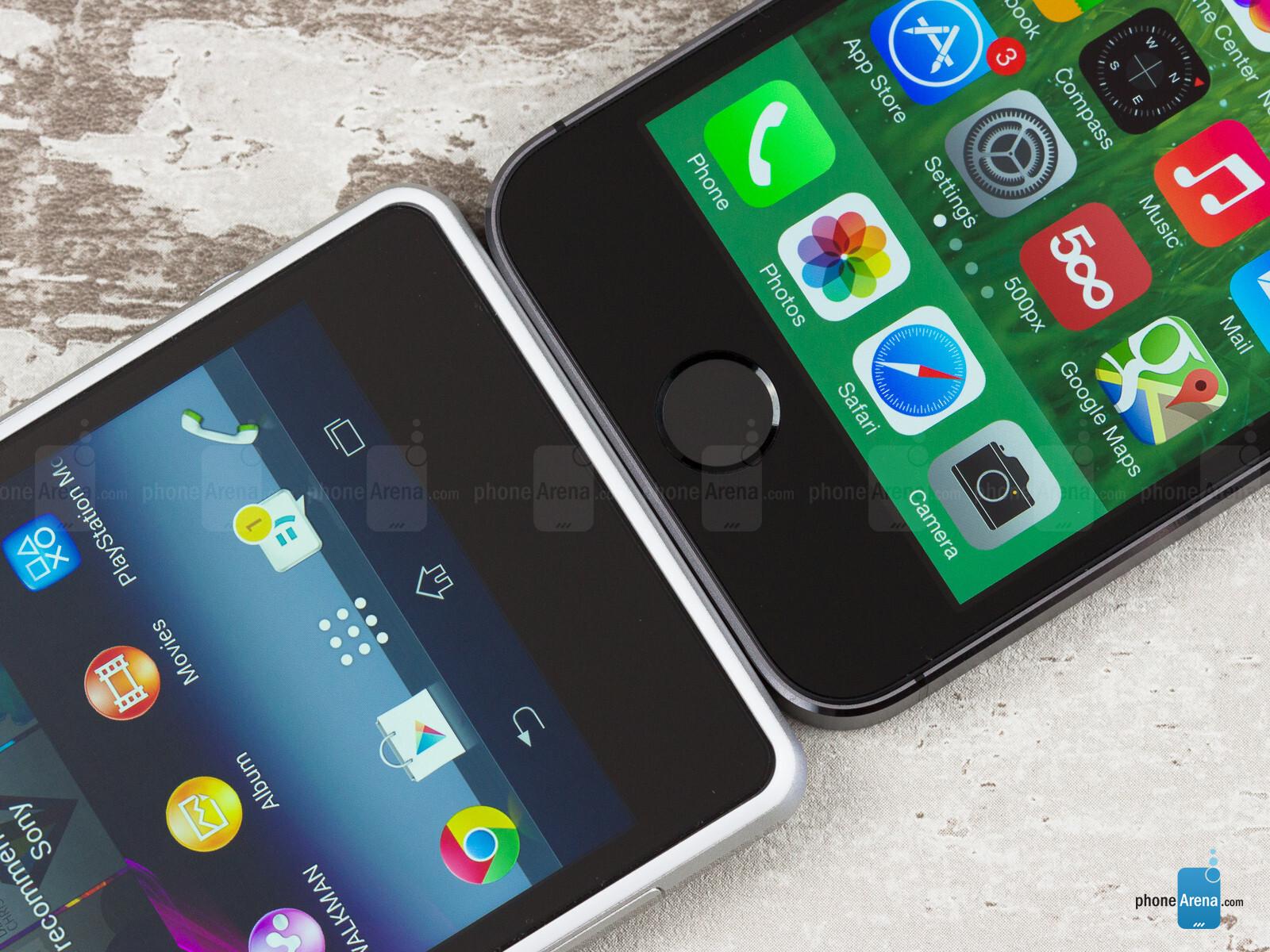 Sony Xperia Z1 Compact vs Apple iPhone 5s  Sony Xperia Z1 ...