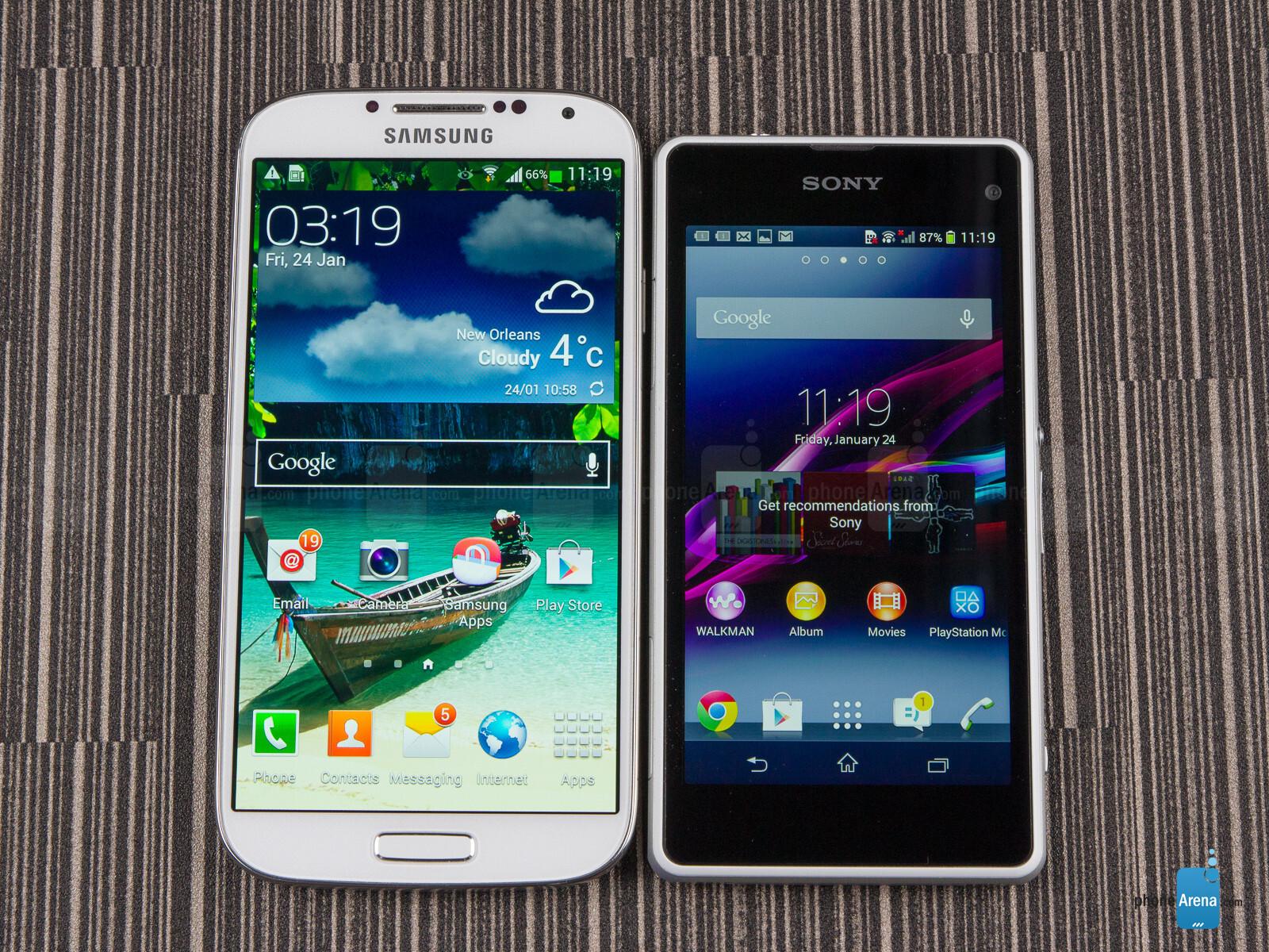 Sony Xperia Z1 Compact vs Samsung Galaxy S4 - PhoneArena  Sony Xperia Z1 ...