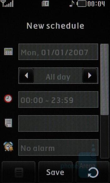 Calendar - LG PRADA KE850 Phone Review