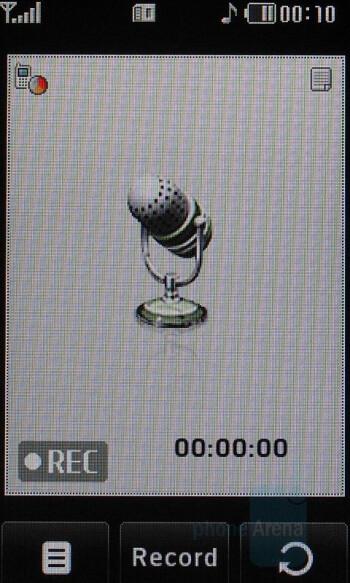 Voice recorder - LG PRADA KE850 Phone Review