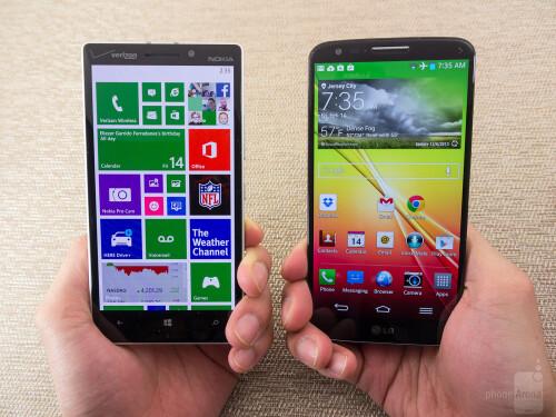 Nokia Lumia Icon vs LG G2