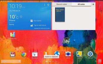 UI of the Samsung Galaxy NotePRO 12.2 - Sony Xperia Z2 Tablet vs Samsung Galaxy NotePRO 12.2