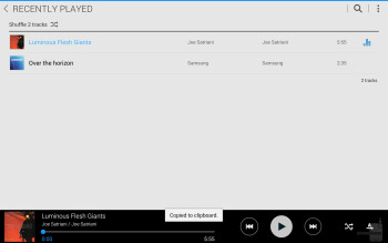 Music player of the Samsung Galaxy NotePRO 12.2 - Sony Xperia Z2 Tablet vs Samsung Galaxy NotePRO 12.2