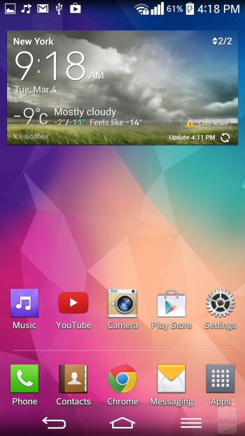 The interface of the LG G Pro 2 - LG G Pro 2 vs Sony Xperia Z1