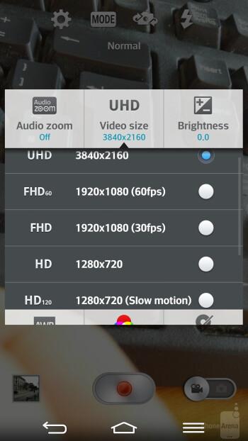 LG G Pro 2 camera UI - LG G Pro 2 vs Sony Xperia Z1