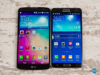 LG G Pro 2 vs Samsung Galaxy Note 3