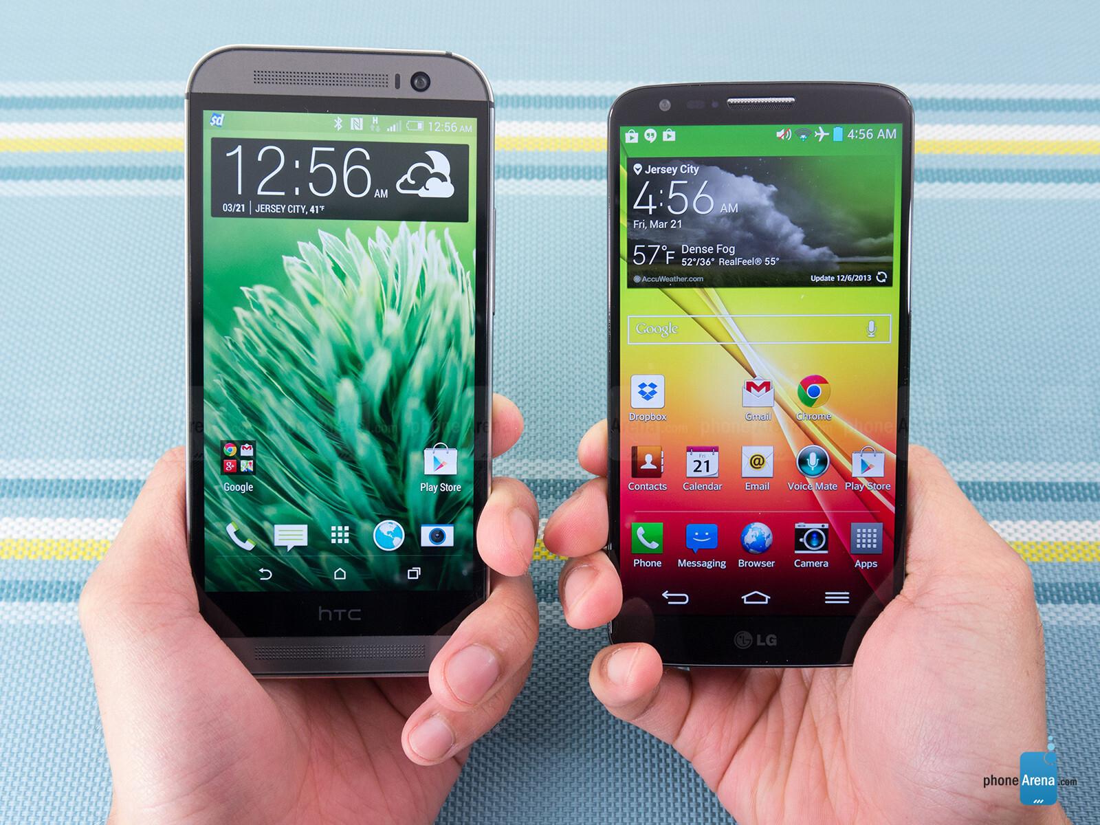 HTC One M8 vs LG G2