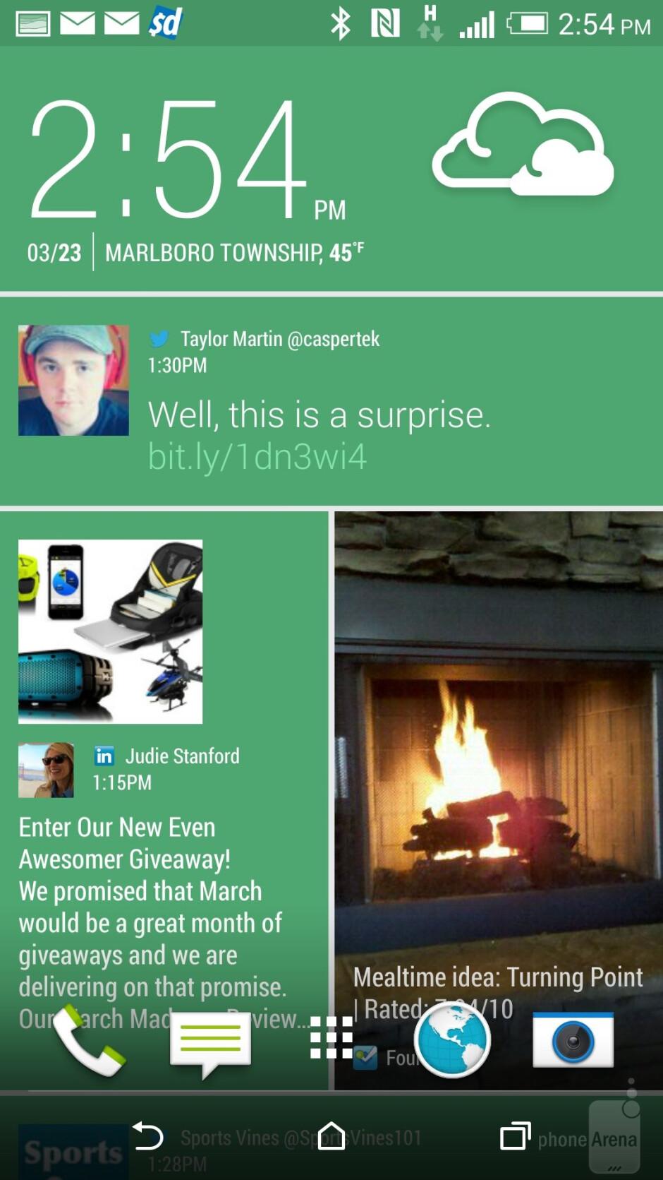 HTC One (M8) user interface - Samsung Galaxy Note 4 vs HTC One (M8)