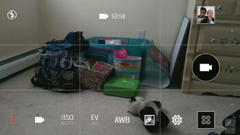 Camera interface of the HTC One (M8) - LG G3 vs HTC One (M8)
