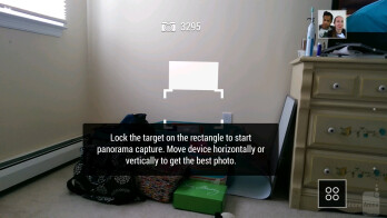 Camera interface of the HTC One (M8) - Sony Xperia Z2 vs HTC One (M8)