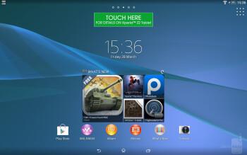 Interface of the Sony Xperia Z2 Tablet - Sony Xperia Z2 Tablet vs Samsung Galaxy NotePRO 12.2