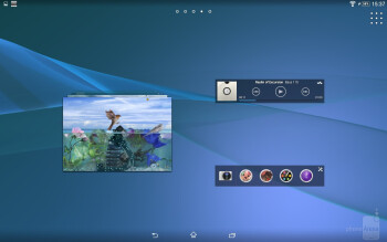 Interface of the Sony Xperia Z