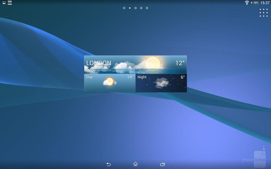 Interface of the Sony Xperia Z2 Tablet - Sony Xperia Z2 Tablet vs Apple iPad Air