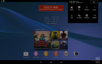 Interface of the Sony Xperia Z2 Tablet - Sony Xperia Z2 Tablet vs Apple iPad Air