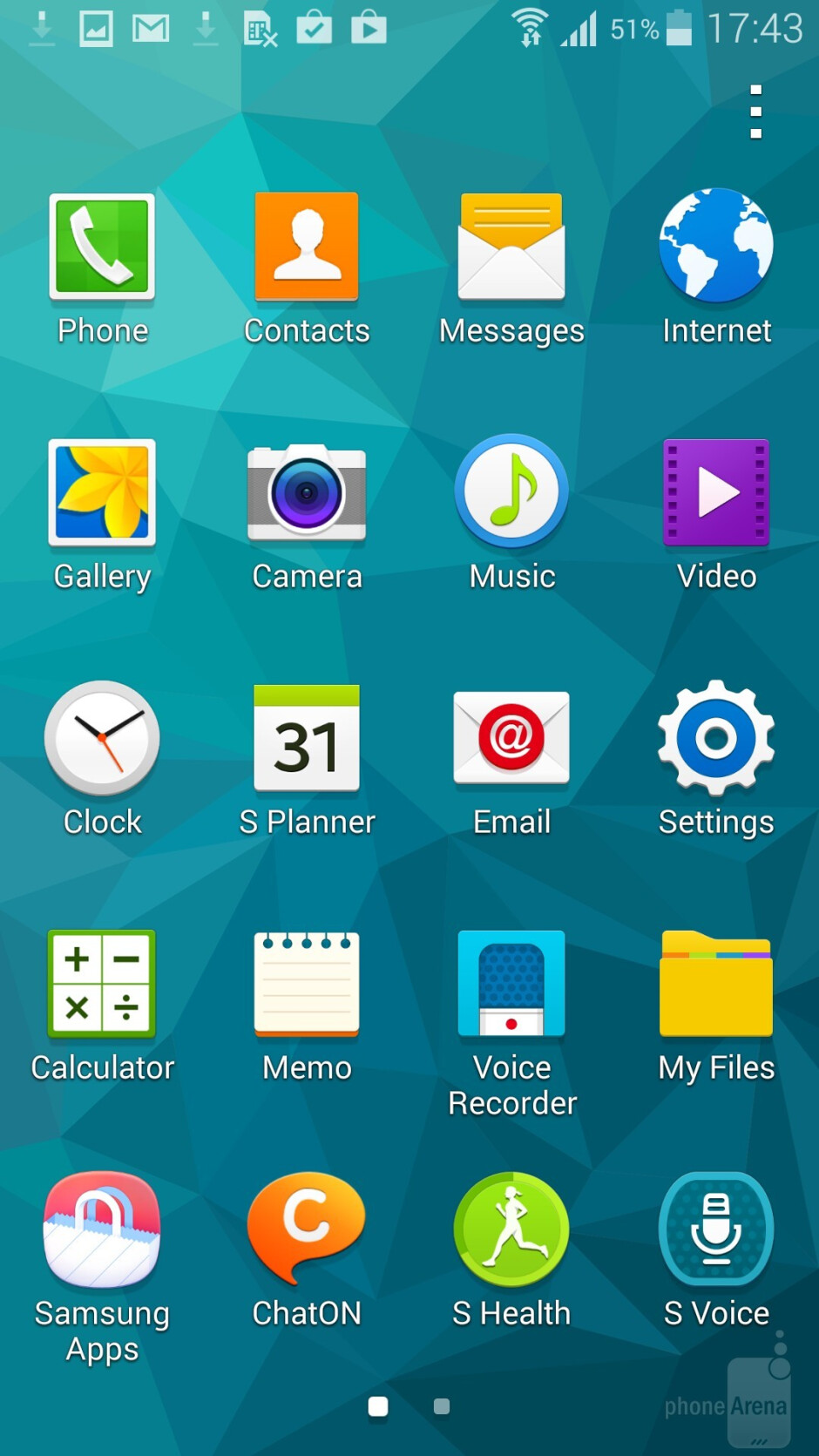 UI of the Samsung Galaxy S5 - LG G3 vs Samsung Galaxy S5