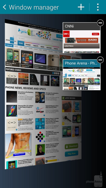 Browsing the web on the Samsung Galaxy S5 - Samsung Galaxy S5 vs Apple iPhone 5S