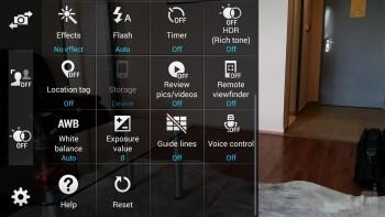 The camera app of the Samsung Galaxy S5 - Samsung Galaxy S5 vs Sony Xperia Z1