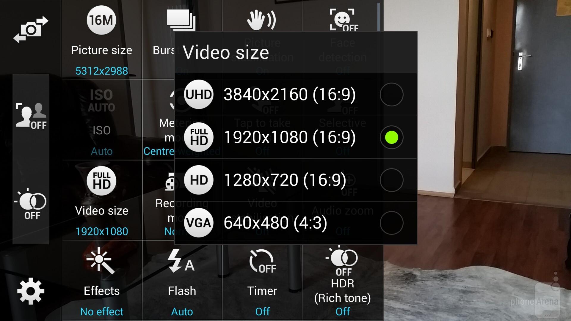 Samsung Galaxy Note 4 vs Samsung Galaxy S5 - Camera and
