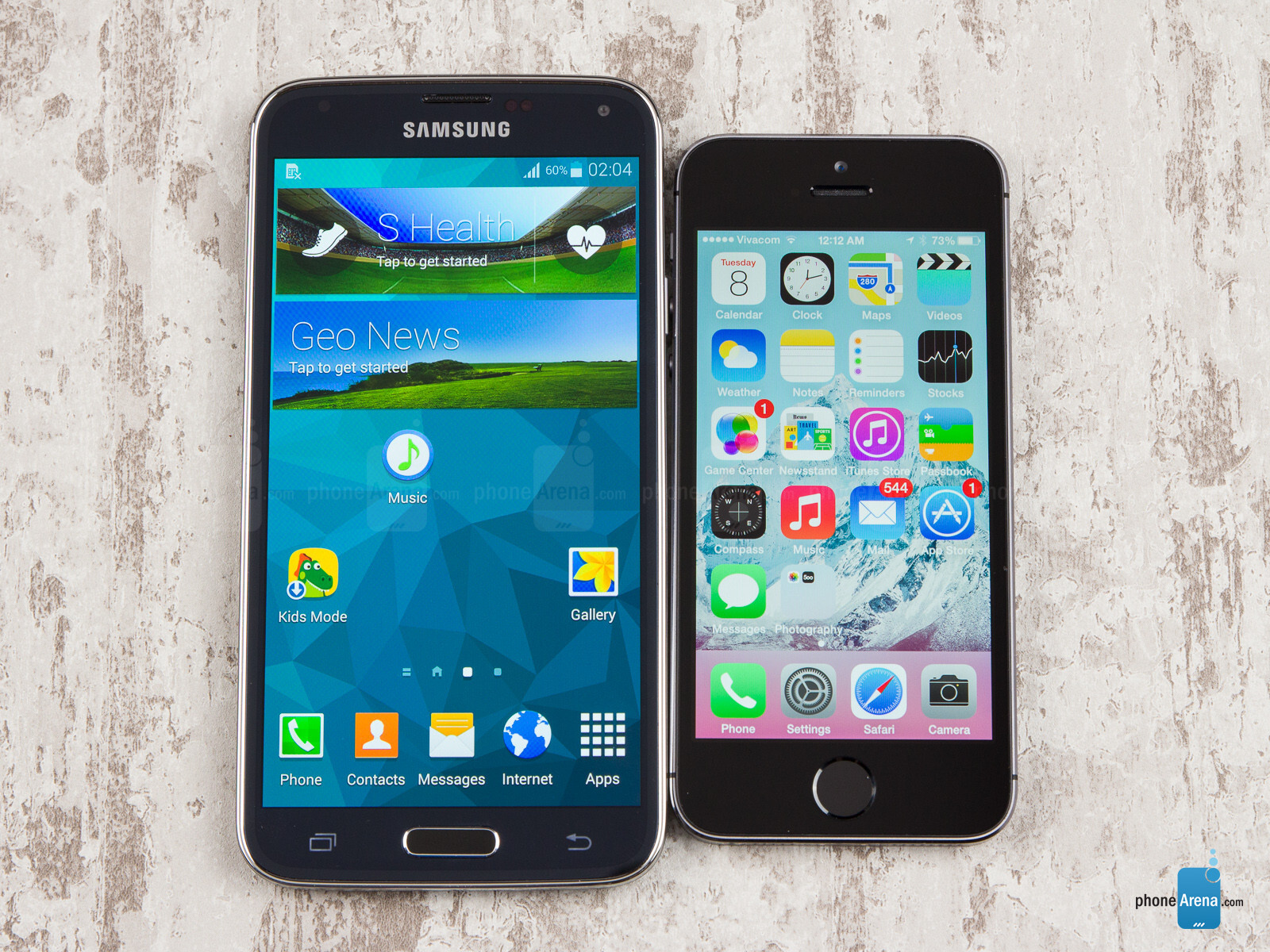 Samsung Galaxy S5 vs Apple iPhone 5S - PhoneArena