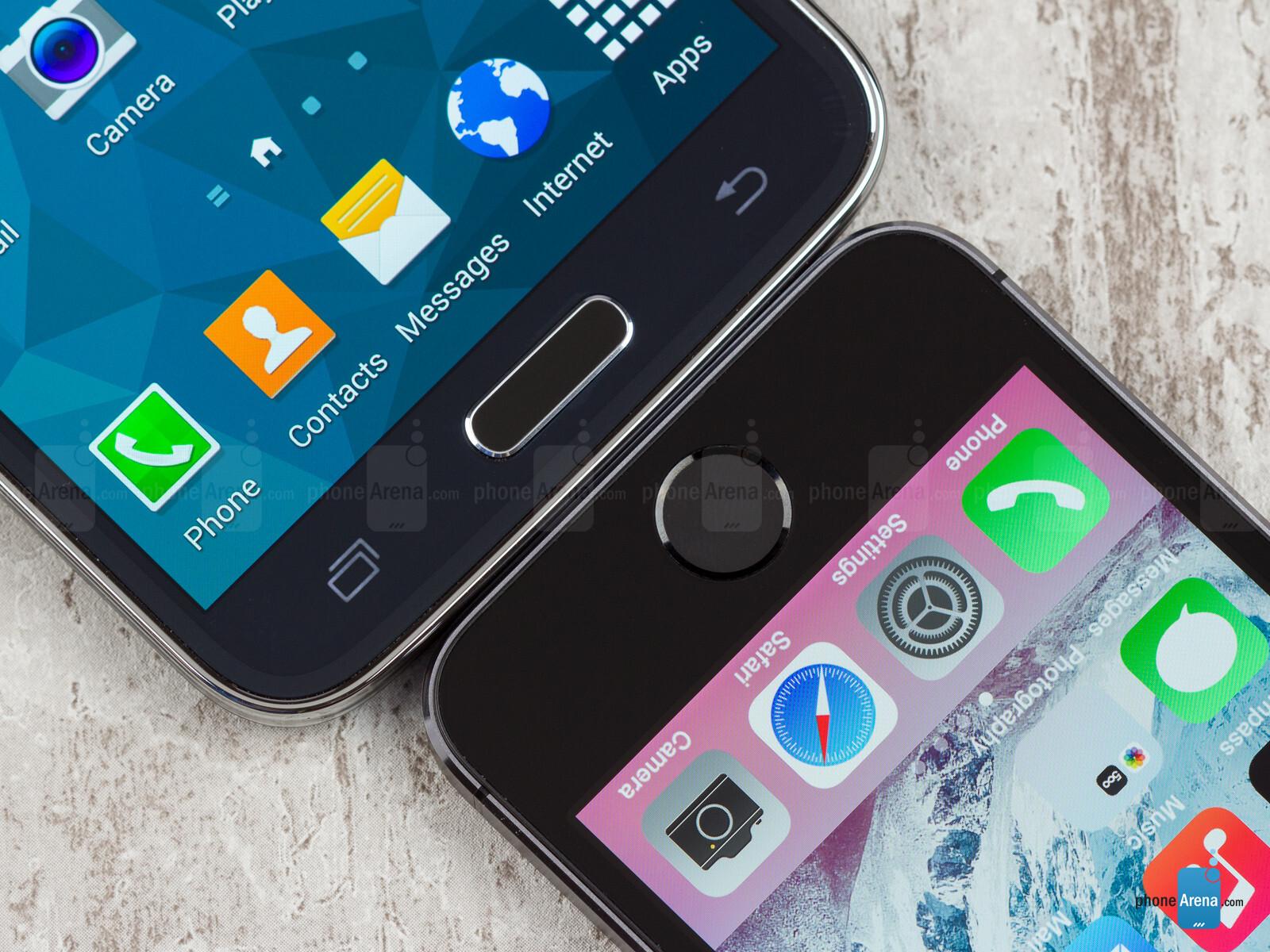 samsung s5 vs iphone 5s phonearena