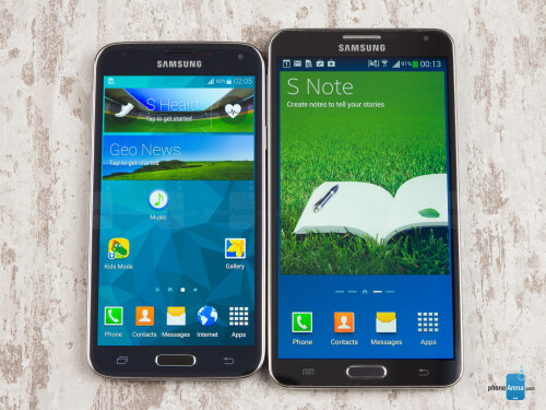 Samsung Galaxy S5 vs Samsung Galaxy Note 3