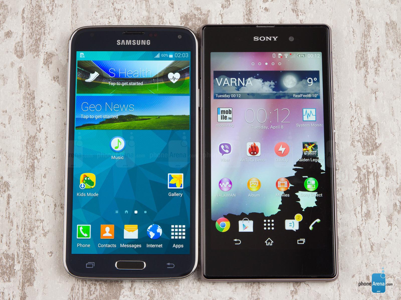 Xperia Z Vs Galaxy S4 Vs Iphone 5 Samsung Galaxy ...