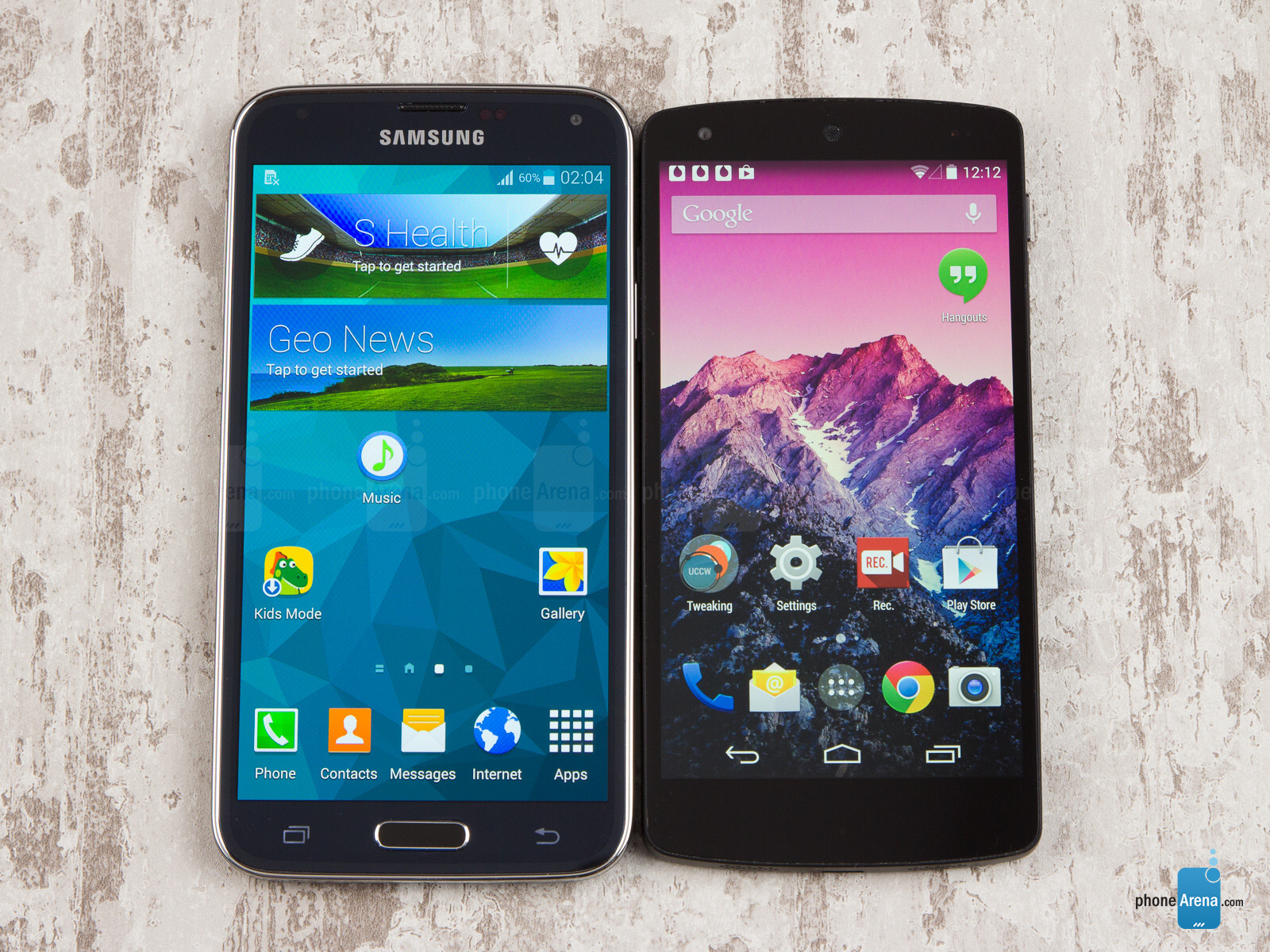 Google nexus 4 review pictures it pro -  Samsung Galaxy S5 Vs Google Nexus 5