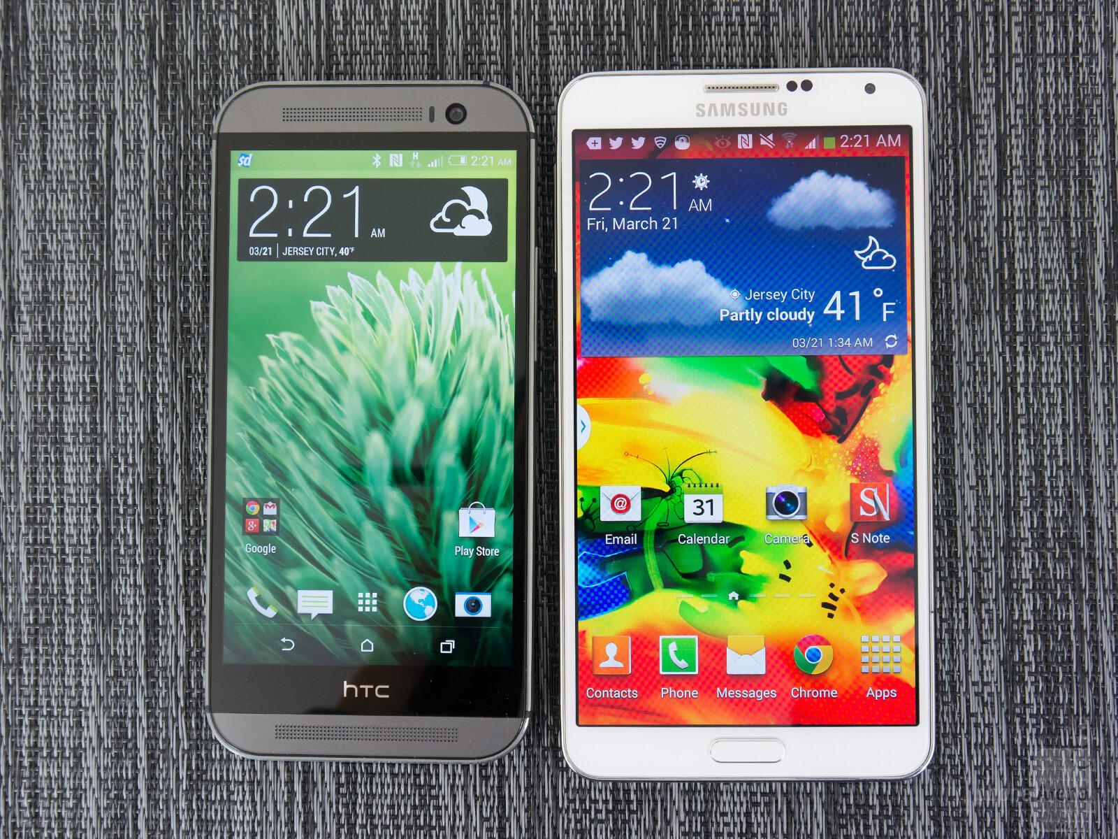 HTC e M8 vs Samsung Galaxy Note 3 001
