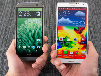 HTC One (M8) vs Samsung Galaxy Note 3