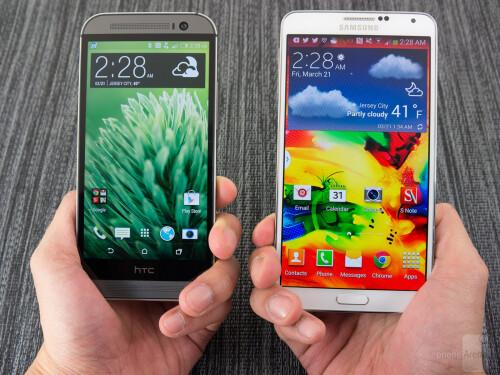HTC One (M8) vs Samsung Galaxy Note 3
