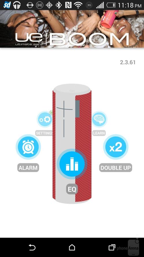 UE Boom app interface