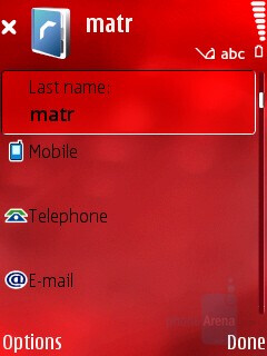 Adding new contact - Nokia N76 Review