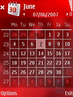Calendar - Nokia N76 Review