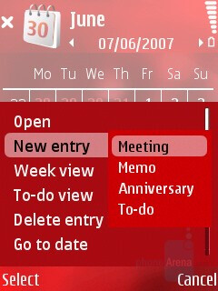 Adding new appointment, etc. - Nokia N76 Review